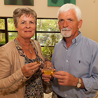 Mary Scannell from Claregalway with John O'Flaherty from Lisdoonvarna at the Launch of the 2014 Merriman Summer School in Glór
