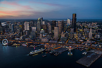 Waterfront & Downtown Seattle @ Blue Hour