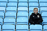 Coventry fan during the Sky Bet League 1 match between Coventry City and Peterborough United at the Ricoh Arena, Coventry, England on 31 October 2015. Photo by Alan Franklin.