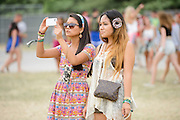 Attendees at the Firefly Music Festival in Dover, DE on June 21, 2014.