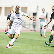 11 September 2016: The #13/9 San Diego State Aztecs men's soccer team hosts Memphis in the Courtyard Marriott San Diego Central Tournament at SDSU Sports Deck.