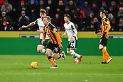 Hull City forward Jarrod Bowen (20) during the EFL Sky Bet Championship match between Hull City and Barnsley at the KCOM Stadium, Kingston upon Hull, England on 27 February 2018. Picture by Ian Lyall.