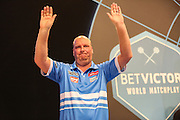 Vincent van der Voort takes to the stage during the First Round of the BetVictor World Matchplay Darts at the Empress Ballroom, Blackpool, United Kingdom on 19 July 2015. Photo by Shane Healey.