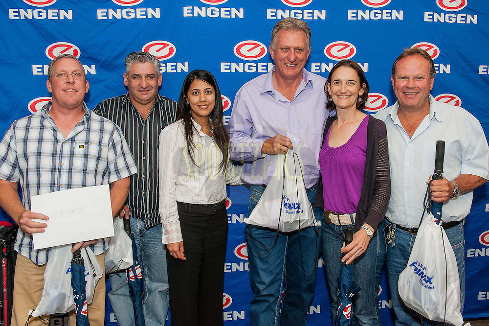 during the Engen Charity Golf Day 2012 held at King David Golf Course in Cape Town, South Africa on 4 December 2012..Photo by Andrew Swarts / Sportzpics