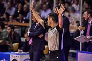 DESCRIZIONE : Reggio Emilia LegaBasket Serie A 2015-2016 Grissin Bon Reggio Emilia - Acqua Vitasnella Cantu'<br /> GIOCATORE : Dario Morelli<br /> CATEGORIA : Arbitro Referee Mani<br /> SQUADRA : AIAP<br /> EVENTO : LegaBasket Serie A 2015-2016<br /> GARA : Grissin Bon Reggio Emilia - Acqua Vitasnella Cantu'<br /> DATA : 17/10/2015<br /> SPORT : Pallacanestro<br /> AUTORE : Agenzia Ciamillo-Castoria/GiulioCiamillo
