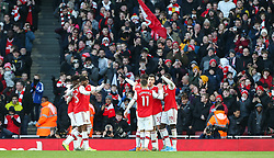 Gabriel Martinelli of Arsenal celebrates scoring to make it 1-0 - Mandatory by-line: Arron Gent/JMP - 18/01/2020 - FOOTBALL - Emirates Stadium - London, England - Arsenal v Sheffield United - Premier League