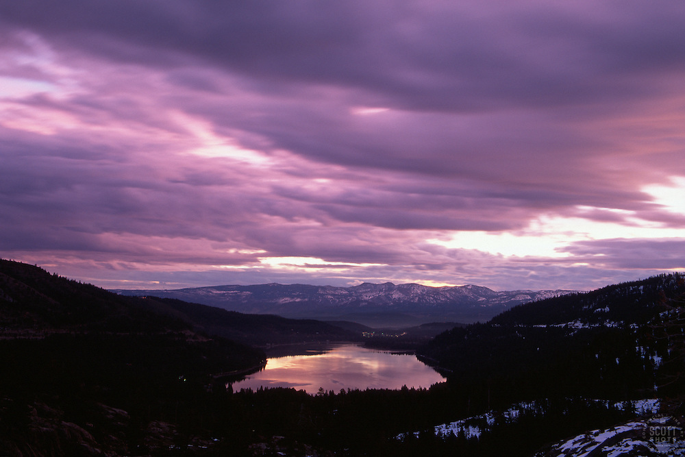 &quot;Donner Lake Sunrise 2&quot;- This sunrise was photographed from the west end of Donner Lake, facing toward the town of Truckee, CA.<br />