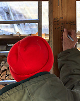 Maple syrup boil-down record-keeping Image taken with a Leica TL camera and 18-56 mm zoom lens
