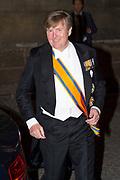 Zijne Majesteit Koning Willem-Alexander en Hare Majesteit Koningin Máxima ontvangen het Corps Diplomatique voor het jaarlijkse galadiner in het Koninklijk Paleis Amsterdam.<br /> <br /> His Majesty King Willem-Alexander and Her Majesty Queen Máxima receive the Diplomatic Diploma for the annual gala dinner at the Royal Palace Amsterdam.<br /> <br /> Op de foto / On the photo:  Koning Willem Alexander / King Willem Alexander