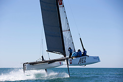 Launch of the GC32 with the new L-foils and T-rudders 16-4-2014, La Grande Motte, France