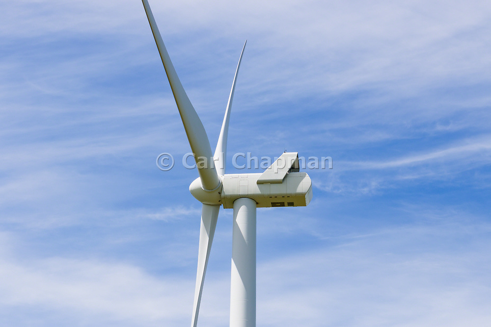 wind turbine against wispy cloud at MacArthur Wind Farm, Menhamite, Victoria, Australia