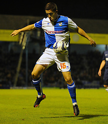 Bristol Rovers' Andy Bond looks to bring the ball under control - Photo mandatory by-line: Seb Daly/JMP - Tel: Mobile: 07966 386802 27/09/2013 - SPORT - FOOTBALL - Roots Hall - Southend - Southend United V Bristol Rovers - Sky Bet League Two