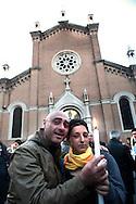 Roma 21 Aprile 2010.Fiaccolata contro lo spaccio di droga al quartiere San Lorenzo...Rome April 21, 2010.Torchlight against drug dealing in San Lorenzo district..
