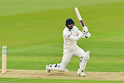 James Vince of Hampshire batting during the second day of play in the Specsavers County Champ Div 1 match between Hampshire County Cricket Club and Essex County Cricket Club at the Ageas Bowl, Southampton, United Kingdom on 28 April 2018. Picture by Graham Hunt.