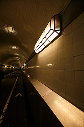 GERMANY HAMBURG 29JUN13 - General view of the Old Elbe Tunnel (St. Pauli Elbe Tunnel - German: Alter Elbtunnel) which opened in 1911, is a pedestrian and vehicle tunnel in Hamburg, Germany. <br /> <br /> The 426 m (1,398 ft) long tunnel was a technical sensation; 24 m (80 ft) beneath the surface, two tubes with 6 m (20 ft) diameter connect central Hamburg with the docks and shipyards on the south side of the river Elbe. <br /> <br /> <br /> <br /> jre/Photo by Jiri Rezac<br /> <br /> <br /> <br /> © Jiri Rezac 2013