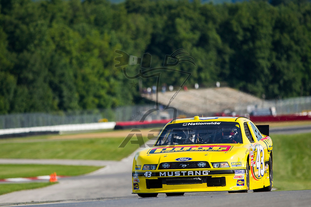 "Lexington, OH - AUG 15, 2013: The NASCAR Nationwide Series teams take to the track during practice for the Nationwide Children's Hosp. 200 at the Mid-Ohio Sports Car Course in Lexington, OH, Annett, ""Flying J"", 43, Ford, Petty,"