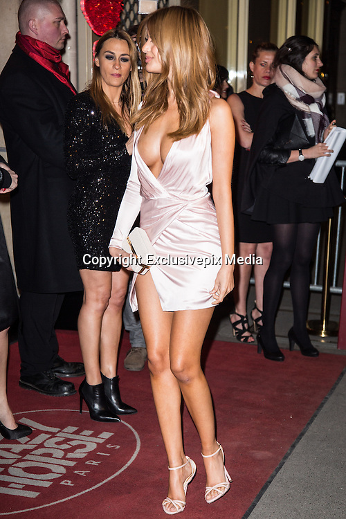 Zahia Dehar NAKED UNDER HER COAT ON THE OCCASION OF THE SHOW 'DITA'S CRAZY SHOW AT THE CRAZY HORSE PARIS,<br /> Zahia Dehar is a fashion and lingerie designer, also known for her role in an underage prostitution scandal<br /> ©Exclusivepix Media