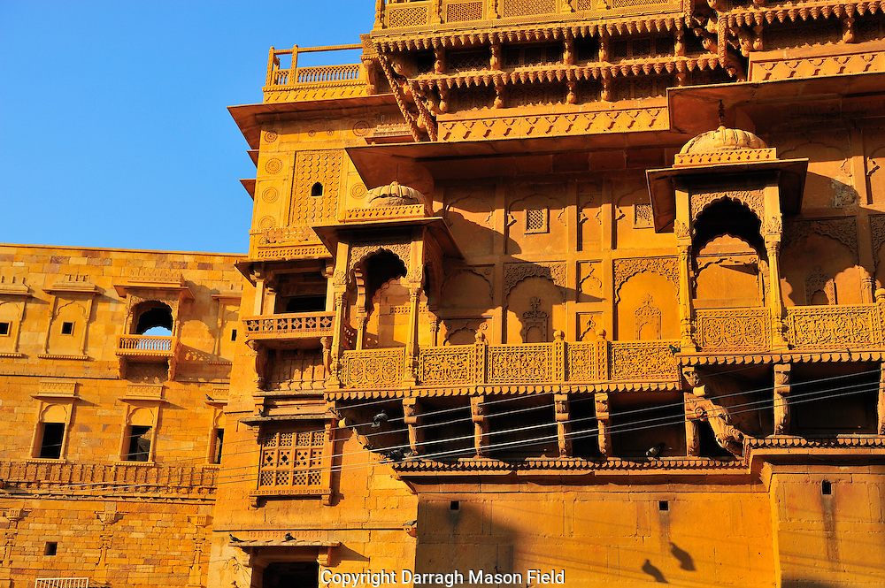Haveli in the main square of the Jaisalmer fort in Rjasthan