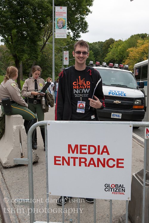 World Vision USA Team at the Global Citizen Festival, New York City, 29 September 2012