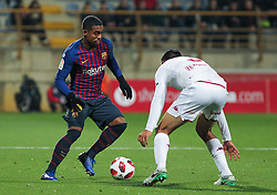 October 31, 2018 - Leon, Leon, Spain - Malcom of Barcelona in action during the King Spanish championship, , football match between Cultural Leonesa and Barcelona, October 31, in Reino de Leon Stadium in Leon, Spain. (Credit Image: © AFP7 via ZUMA Wire)