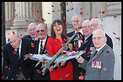 Carol Vorderman with Bomber Command veterans at the launch of the Bomber Command Memorial Fund's Poppy Salute Appeal in London, Wednesday 28th March 2012.   Photo by: Stephen Lock / i-ImagesCarol Vorderman with Bomber Command veterans at the launch of the Bomber Command Memorial Fund's Poppy Salute Appeal in London, Wednesday 28th March 2012.   Photo by: Stephen Lock / i-Images