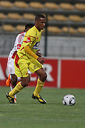 CAPE TOWN, SOUTH AFRICA - 11 FEBRUARY 2011, Santos Captain Tyren Arendse on the attack during the Absa Premiership match between Santos and Ajax Cape Town held at Athlone Stadium in Cape Town, South Africa..Photo by: Shaun Roy/Sportzpics