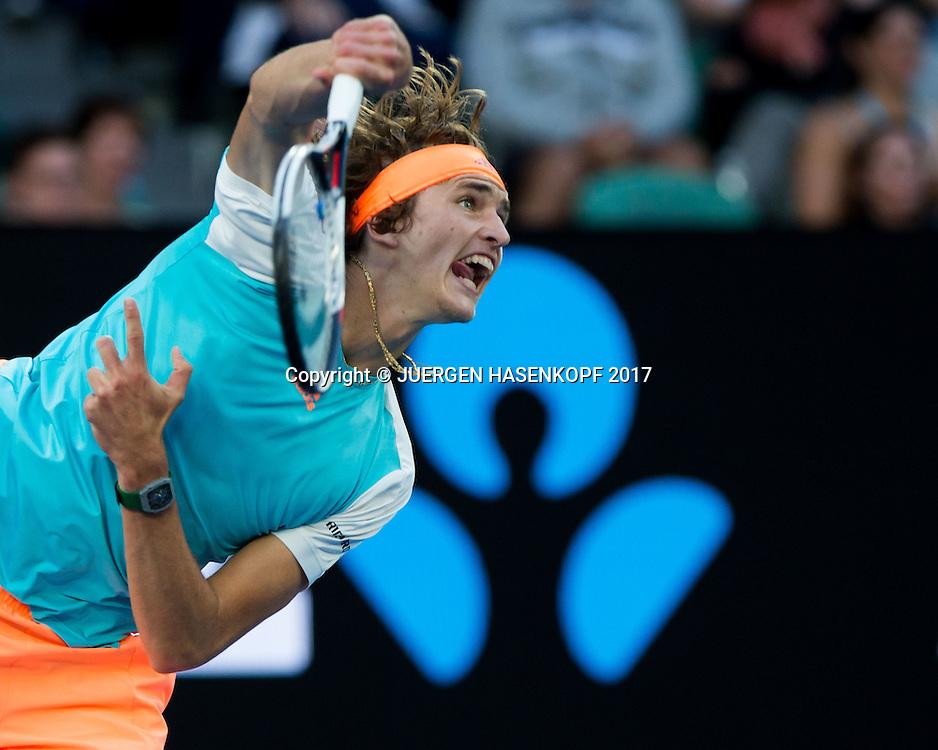 ALEXANDER ZVEREV (GER)<br /> <br /> Australian Open 2017 -  Melbourne  Park - Melbourne - Victoria - Australia  - 21/01/2017.