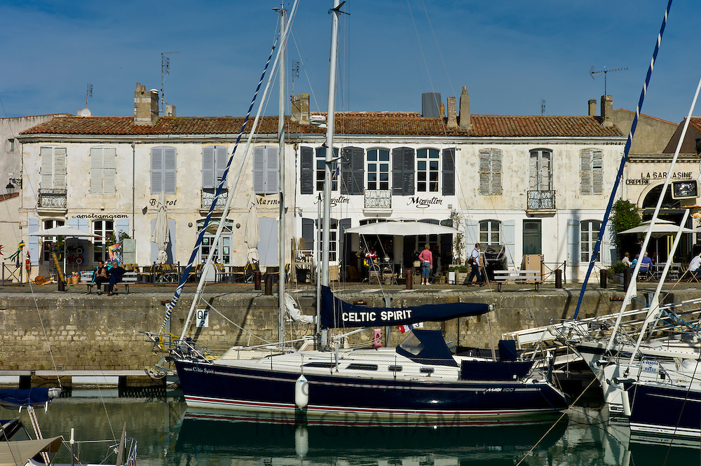 Harbour scene Quai Job Foran, St Martin de Re on Ile de Re in France