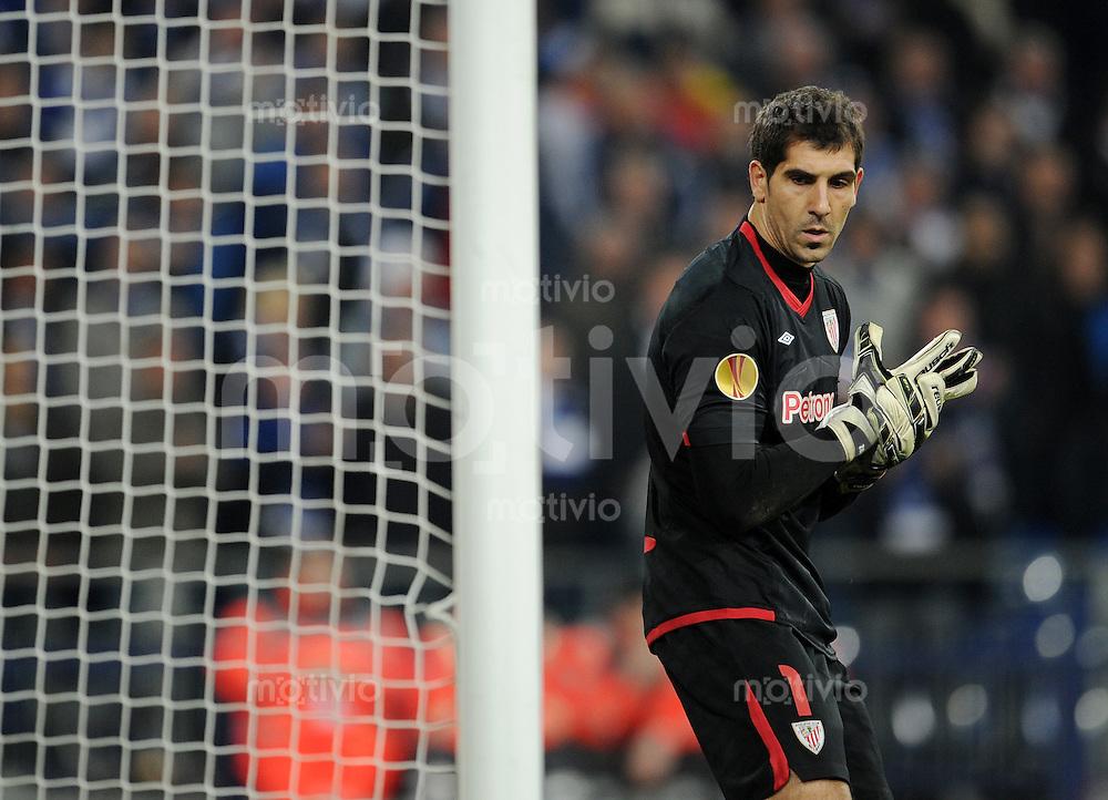 FUSSBALL   EUROPA LEAGUE   SAISON 2011/2012  VIERTELFINALE FC Schalke 04 - Athletic Bilbao                              29.03.2012 Torwart Gorka Iraizoz (Athletic Bilbao)