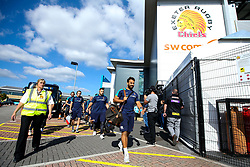 Marco Mama of Worcester Warriors arrives at Sandy Park for the Premiership fixture against Exeter Chiefs - Mandatory by-line: Robbie Stephenson/JMP - 29/09/2018 - RUGBY - Sandy Park Stadium - Exeter, England - Exeter Chiefs v Worcester Warriors - Gallagher Premiership Rugby