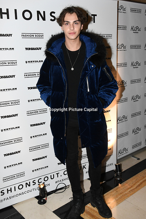 Stevie Ruffs is a actor attend the Fashion Scout - SS19 - London Fashion Week - Day 1, London, UK. 14 September 2018.