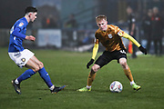 Crewe Alexandra midfielder Charlie Kirk in action during the EFL Sky Bet League 2 match between Macclesfield Town and Crewe Alexandra at Moss Rose, Macclesfield, United Kingdom on 21 January 2020.