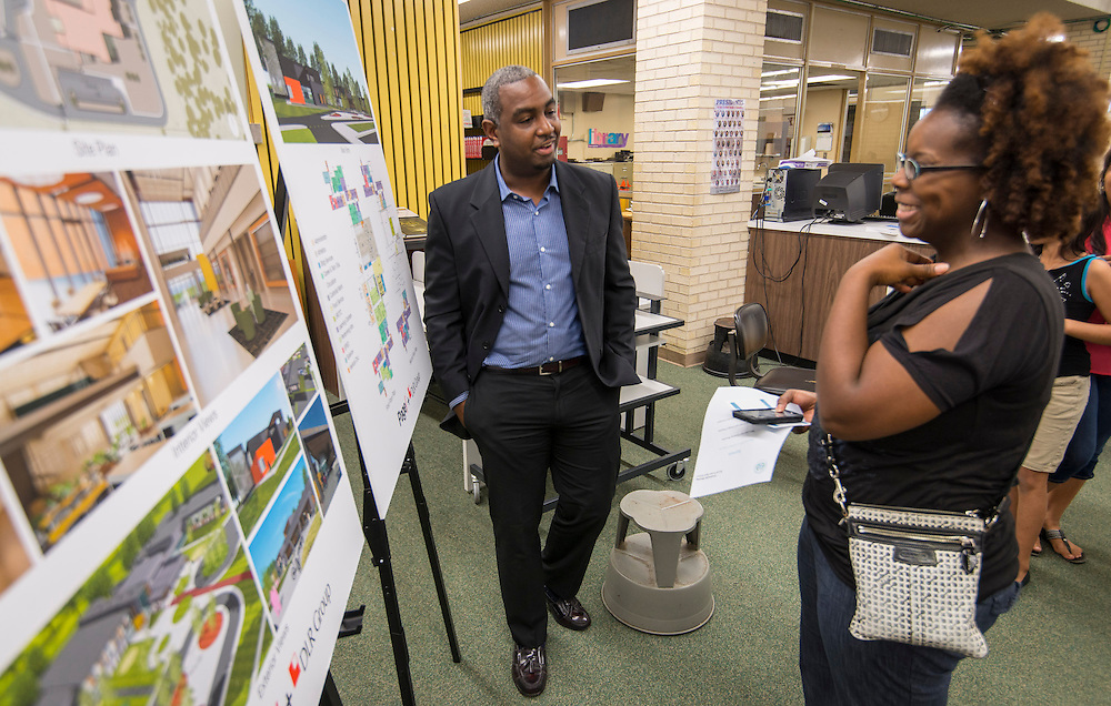 Bond community meeting at North Forest High School, May 21, 2015.
