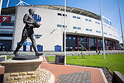 (External) general view of the University of Bolton Stadium before the EFL Sky Bet League 1 match between Bolton Wanderers and Ipswich Town at the University of  Bolton Stadium, Bolton, England on 24 August 2019.