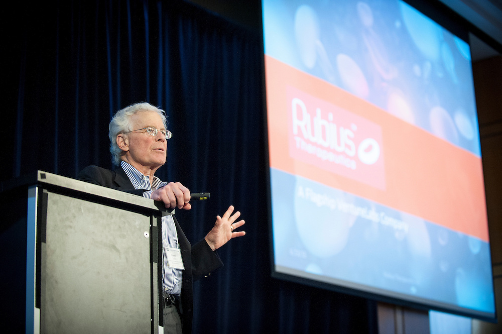 "Dr. Harvey Lodish, founding member of The Whitehead Institute, delivers a keynote address at DARPA's ""Biology Is Technology"" symposium in New York City on June 23, 2015. The two-day event was held by DARPA's Biological Technologies Office to bring together leading-edge technologists, start-ups, industry, and academic researchers to look at how advances in engineering and information sciences can be used to drive biology for technological advantage."