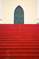 LENCOIS, BRAZIL:  A church door in Lencois, Brazil, a town where many of Brazil's artists come to find inspiration.  The beautiful mountain setting also attracts many tourists.