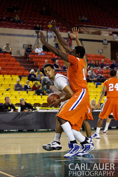 November 25th, 2010:  Anchorage, Alaska - Arizona States Trent Lockett (with the ball) looks to pass past the Houston Baptist defense in the Sun Devils 73-55 win over Houston Baptist in their first round game of the Great Alaska Shootout.