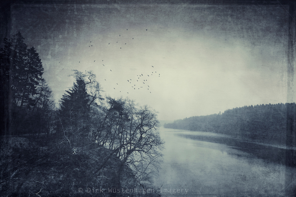 Dam in the surroundings of my hometown on a very cold winter's day. Textures photograph.<br />