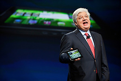 RIM President and Co-Chief Executive Officer Mike Lazaridis announces the new BlackBerry PlayBook tablet during his keynote address at the BlackberryDevCon 2010  in San Francisco.