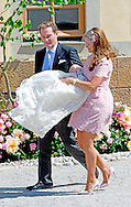 8-6-2014 STOCKHOLM - Princess Madeleine en Christopher O'Neill after the christening of Swedish Princess Leonore at Drottningholm Palace outside Stockholm, Sweden, 08 June 2014. cOPYRIGHT ROBIN UTRECHT