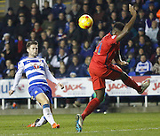 Reading midfielder, Oliver Norwood tries his luck with a chip during the Sky Bet Championship match between Reading and Blackburn Rovers at the Madejski Stadium, Reading, England on 20 December 2015. Photo by Andy Walter.