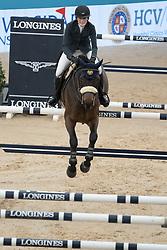 November 23, 2018 - Madrid, Spain - US horsewoman Jessica Springsteen competes during Madrid Horse Week at IFEMA in Madrid, Spain, 23 November 2018. Madrid Horse Week runs from 23 to 25 November 2018  (Credit Image: © Oscar Gonzalez/NurPhoto via ZUMA Press)