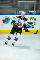 KELOWNA, BC - FEBRUARY 12: Matthew Wedman #20 of the Kelowna Rockets warms up against the Tri-City Americans at Prospera Place on February 8, 2020 in Kelowna, Canada. Wedman was selected in the 2019 NHL entry draft by the Florida Panthers. (Photo by Marissa Baecker/Shoot the Breeze)