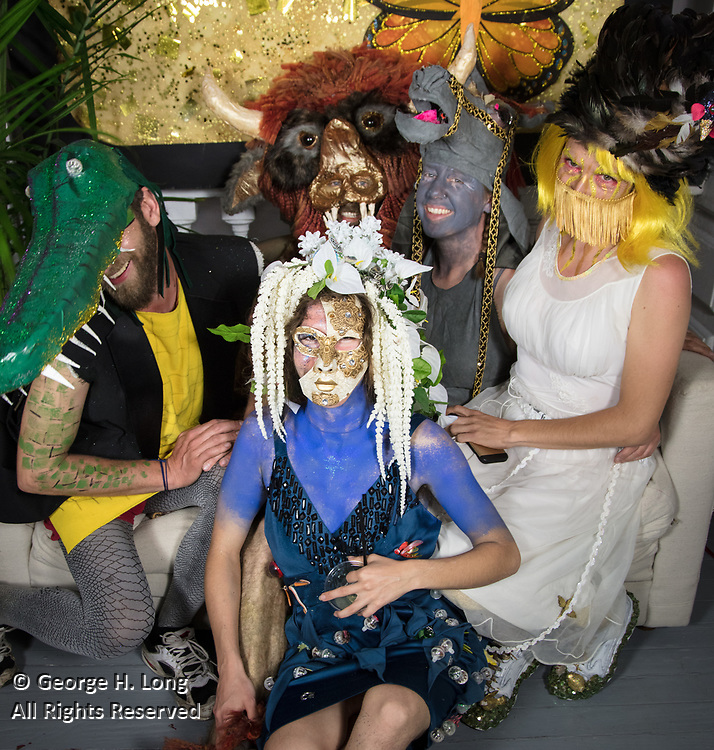Stacy Hoover's Mardi Gras party at her home, Wonderland, in Bywater; New Orleans 2017