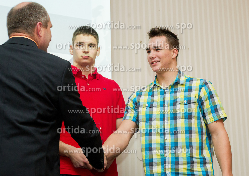 Matija Muhar during the Slovenia's Athlete of the year award ceremony by Slovenian Athletics Federation AZS on November 8, 2013 in Grand Hotel Toplice, Bled, Slovenia. Photo by Vid Ponikvar / Sportida