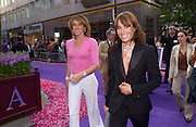 Santa Sebag-Montefiore and Tara Palmer-Tompkinson, Asprey Store relaunch party after rebuilding. New Bond St. 18 May 2004. ONE TIME USE ONLY - DO NOT ARCHIVE  © Copyright Photograph by Dafydd Jones 66 Stockwell Park Rd. London SW9 0DA Tel 020 7733 0108 www.dafjones.com