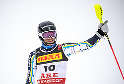 17.02.2019, Aare, SWE, FIS Weltmeisterschaften Ski Alpin, Slalom, Herren, 2. Lauf, im Bild Andre Myhrer (SWE) // Andre Myhrer of Sweden reacts after his 2nd run of men's Slalom of FIS Ski World Championships 2019. Aare, Sweden on 2019/02/17. EXPA Pictures © 2019, PhotoCredit: EXPA/ Johann Groder