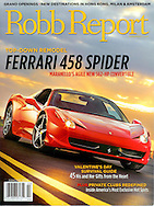 Magazine Cover - Robb Report Ferarri 458 Spider
