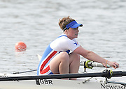 Eton, United Kingdom.  Bow, Abby JOHNSTON, competing in the Women's Pair  Sat. time trial.  2011 GBRowing Trials, Dorney Lake. Saturday  16/04/2011  [Mandatory Credit; Peter Spurrier/Intersport-images] Venue For 2012 Olympic Regatta and Flat Water Canoe events.
