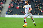 MK Dons defender Dean Lewington  during the Sky Bet Championship match between Milton Keynes Dons and Reading at stadium:mk, Milton Keynes, England on 16 January 2016. Photo by Dennis Goodwin.